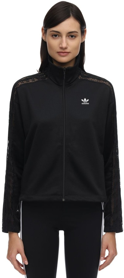 adidas Zip-up Track Jacket W/ Lace Details