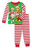 Nickelodeon Paw Patrol Little Boys Toddler Christmas Cotton Pajama Set (, Red)