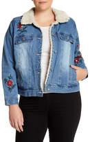 Jolt Embroidery Denim Jacket (Plus Size)