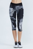 The Upside Flower Grid Power Capri Pant