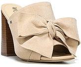 Sam Edelman Yumi Bow Detail Suede Block Heel Mules
