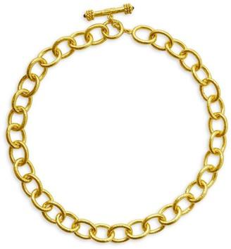 Elizabeth Locke Gold Volterra 19K Goldplated Large Oval-Link Chain Necklace