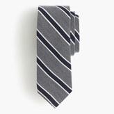J.Crew English wool-silk tie in heritage stripe