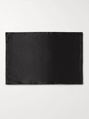 Slip Embroidered Mulberry Slipsilk Queen Pillowcase - Black
