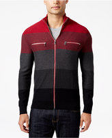 INC International Concepts Men's Copperfield Striped Zip-Front Sweater, Only at Macy's
