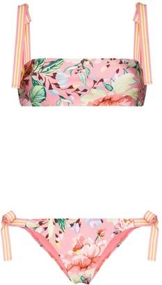 Zimmermann Bellitude floral-print bikini set