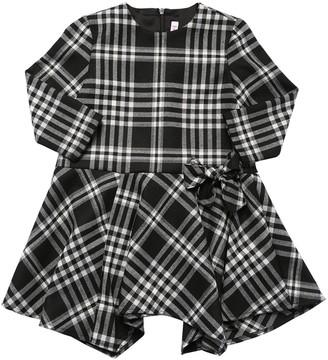 Il Gufo Check Dress W/ Bow Detail