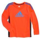 adidas 'Corner Kick' Long Sleeve Athletic T-Shirt (Toddler Boys & Little Boys)