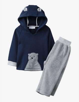 The Little White Company Lumi cotton and fleece pyjamas 0-24 months