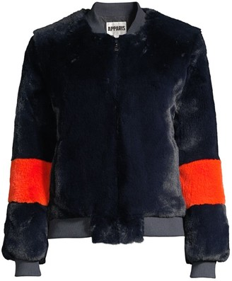 Apparis Jem Faux Fur Bi-Color Bomber
