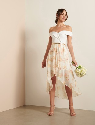 Ever New Season Off-Shoulder Two-in-One Dress