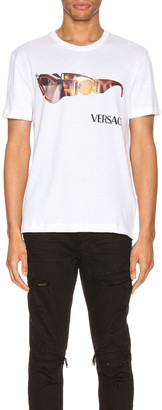 Versace Graphic Tee in Optical White | FWRD