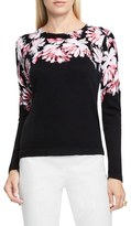 Vince Camuto Petite Women's Floral Print Sweater