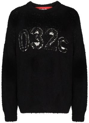 032c Textured Logo Knitted Jumper