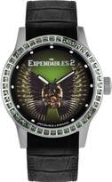 Jacques Lemans EXPENDABLES E-225 42mm Stainless Steel Case Black Calfskin Mineral Women's Watch