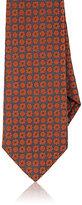 Isaia Men's Medallion-Pattern Necktie-GREY