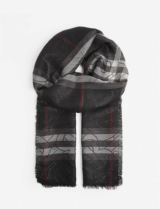 Burberry Monogram silk and wool blend scarf