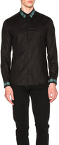 Versace Embroidered Collar Trend Shirt