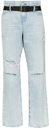RtA Distressed Straight-Leg Jeans