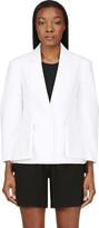 Alexander Wang White Tailored Sewn Lapel Blazer