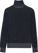Equipment Kimber cotton and linen-blend turtleneck sweater