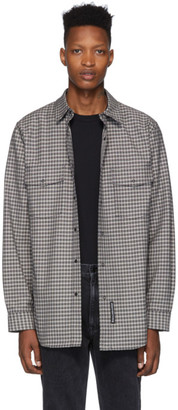 Alexander Wang Black and White Plaid Western Shirt