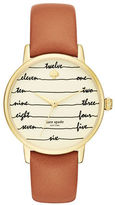 Kate Spade Metro Stainless Steel Leather Strap Watch