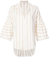 Tome striped wide sleeve blouse