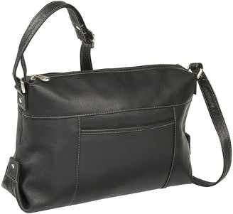 Le Donne Leather Top-Zip Front-Slip Shoulder Bag