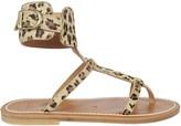 K. Jacques Leopard Print Sandals