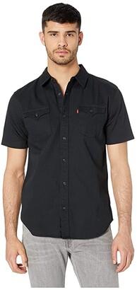 Levi's Nevin Short Sleeve Denim Shirt (Onyx Black) Men's Clothing