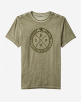 Express Burnout Circle Textured Graphic Tee