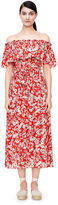 Rebecca Taylor Off-The-Shoulder Cherry Blossom Dress