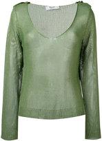Blugirl sheer knitted top - women - Viscose - 42
