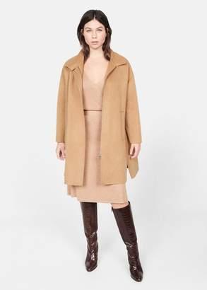 MANGO Violeta BY Handmade wool coat medium brown - XS - Plus sizes