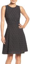Donna Morgan Burnout Fit & Flare Dress
