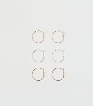 New Look 3 Pack Hoop Earrings