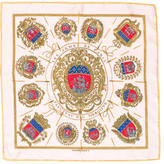 Hermes Les Arms de Paris Silk Pocket Square