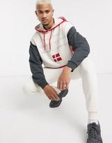 Asos Design DESIGN oversized tracksuit with hoodie & skinny sweatpants in color block