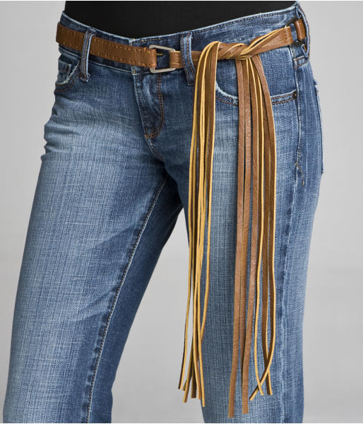 Express Fringe Side-Tie Belt