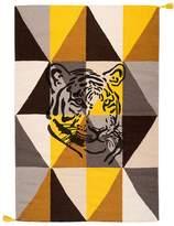 VARANASSI Circus Arlequin Tiger Rug - Tawny Brown