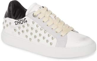 Zadig & Voltaire ZV1747 Heart Stud Sneaker