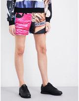 Moschino Printed cotton-jersey shorts
