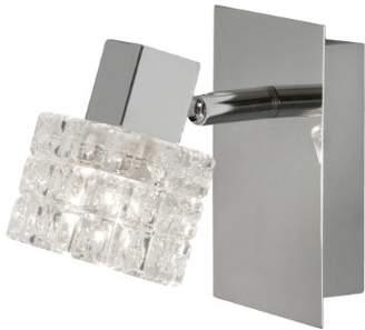 clear Oaks Lighting Danae Polished Chrome Wall Light Complete with Glass Shade