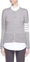 Thom Browne Stripe sleeve layered vest wool blend cardigan