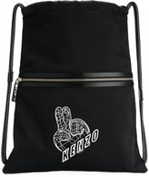 Kenzo Peace World backpack - men - Calf Leather/Nylon/Polyester - One Size