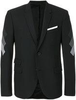 Neil Barrett contrast sleeves blazer