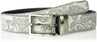 Tallia Men's Suede Embossed Reversible Belt