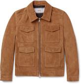 Ami - Slim-fit Suede Jacket