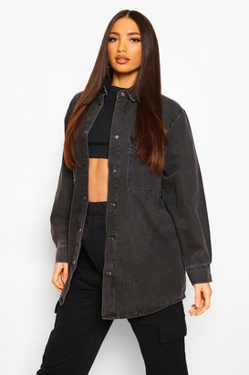 boohoo Tall Oversized Denim Shirt